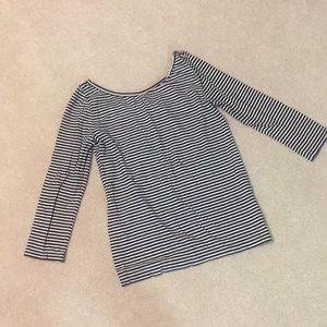 J. Crew Scoopback Ballet Striped Shirt